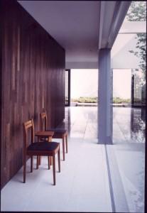 ホースへア−の椅子と小テーブル 800